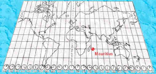 world map mauritius